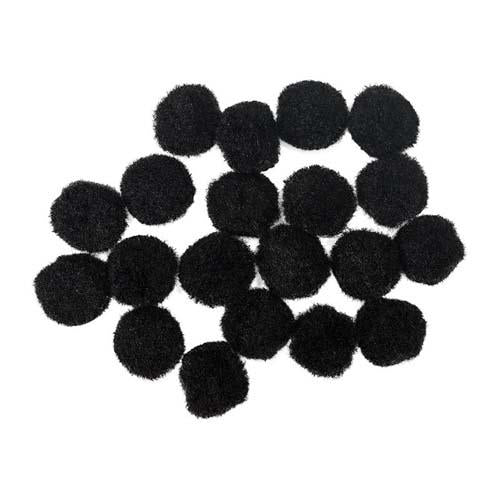Craft Pompom Black 20Mm