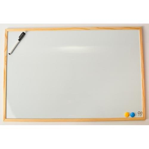 Whiteboard Magnetic Wooden Frame  40 X 6