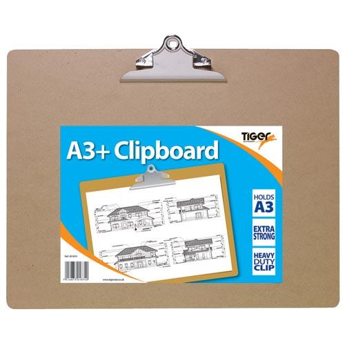 Clipboard Single A3 (Plus), Wooden