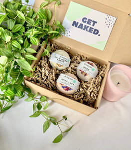 Herbal Bath Bomb Gift Set - The Nectary - Floral Styling