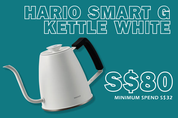 <Flash Sale> Hario Smart G Kettle in White for S$80