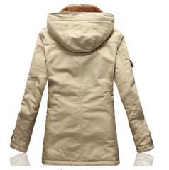 New Men's Slim Long 100% Cotton Thick Winter Snow Warm Jacket
