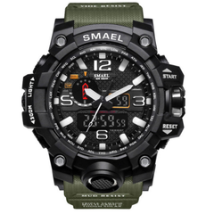 Military SMAEL Men Digital Sport Watch Clock LED Military Analog Quartz Watches Men's Fashion waterproof Electronics Wristwatches Relogio