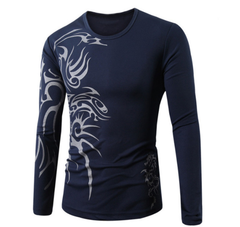 Men's Dragon Tribal Tattoo Long Sleeve Style 2