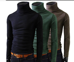 Men Winter Turtleneck Pullover Thermal Sweater