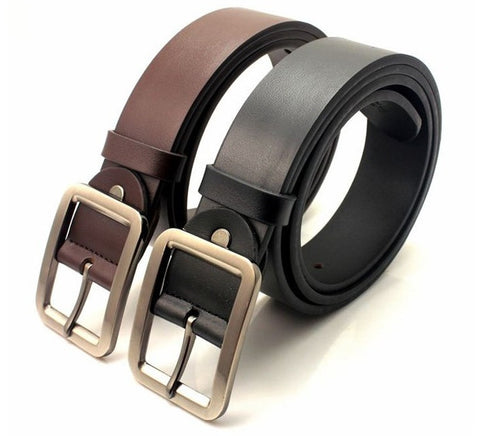 Fashion Vintage Men's True Leather Belts With Alloy Buckle
