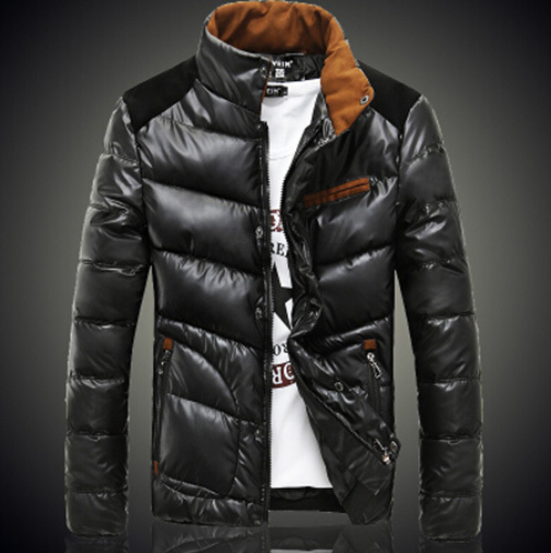 Men Patchwork Dawn Jacket With Zipper And Pockets 3 Colors