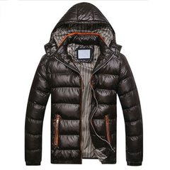 Hooded Fashion Winter Men's Down Jacket
