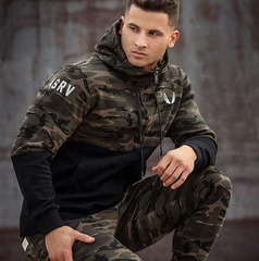 Fashion spring autumn mens hoodies camouflage