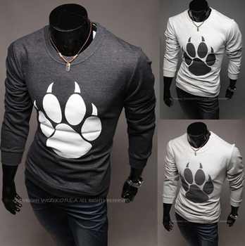 Men's Paw Printed Sweater