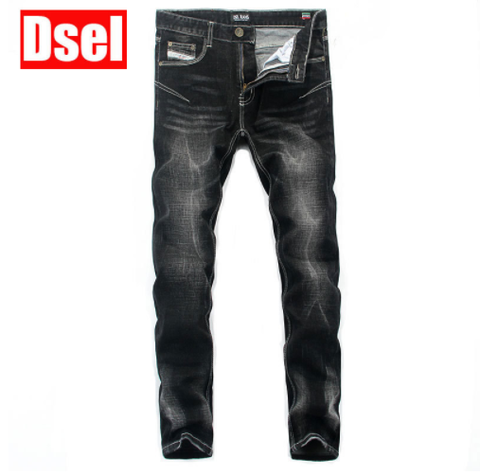 Men High Quality DSEL Black Jeans