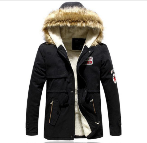 TANGNEST Male Coat Hooded Men's Warm Winter Style Padded Jacket