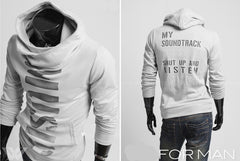 New Autumn High Collar Men's Sweatshirt Personalized Letter Print