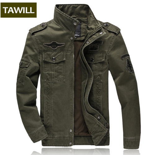 TAWILL Men Jacket Jean Military Army Soldier Cotton Air Force Brand  Clothing Spring Autumn 0336c4396c7