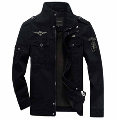 TAWILL Men Jacket Jean Military  Army Soldier Cotton Air Force Brand Clothing Spring Autumn