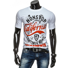 Brand Clothing Men T-shirt Men Cotton Print Men T shirt