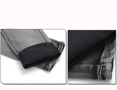 Men High Quality TANGNEST Gray Jeans