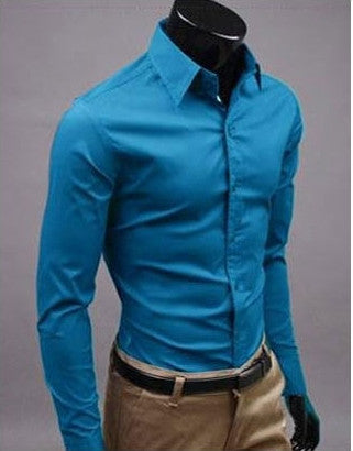 Willstyle Stylish Long Sleeve Shirt Athens Blue