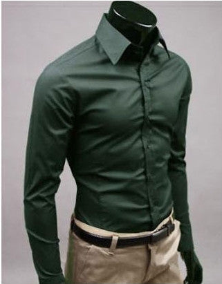 Willstyle Stylish Long Sleeve Shirt Blackish Green