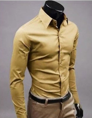 Willstyle Stylish Long Sleeve Shirt Dark Yellow