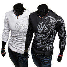 Men's Dragon Tribal Tattoo Long Sleeve