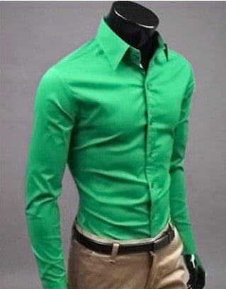 Willstyle Stylish Long Sleeve Shirt Fruit Green