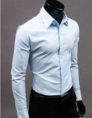 Willstyle Stylish Long Sleeve Shirt Light Blue