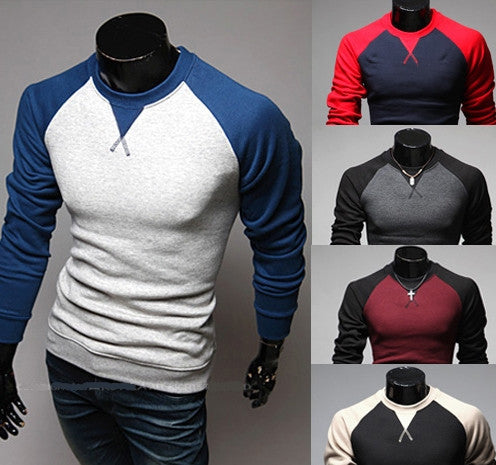 Willstyle Contrast Color Long Sleeve Shirt