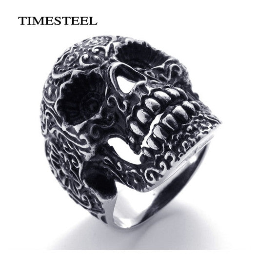 Punk / Gothic Skull Ring Very Cool Fashion Men's 316L Stainless Steel Rings Jewelry Free Shipping