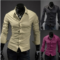 Men's Long Sleeve Luxury Shirt 11 Colors