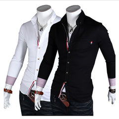 Ribbon Decoration Long Sleeve Shirt