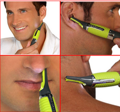 Battery Powered Shaving Men Trimmer Shaver Hair Removal Nose Hair Trimmer