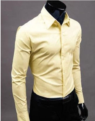 Willstyle Stylish Long Sleeve Shirt Yellow