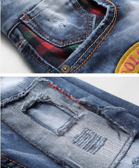 Willstyle Cool Patched Jeans