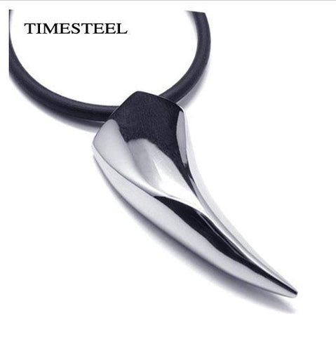 Stainless Steel Wolf Tooth Necklace Animal Pendant