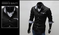 Men's Casual Long Sleeve Shirt 3 Colors