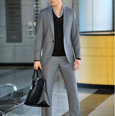 Willstyle Fashion One Button Men's Suit  Includes: 1xJacket+1xPants