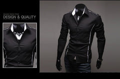 Men's Shirts Casual Slim Fit Stylish Mens Dress Shirts Men Fashion Shirts