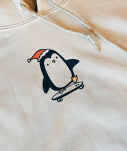 Load image into Gallery viewer, Skateboarding Penguin Hoodie