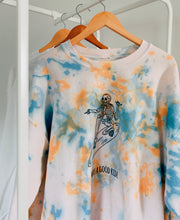 Load image into Gallery viewer, Surfing Skeleton Tie Dye Crewneck
