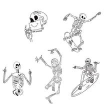 Load image into Gallery viewer, Skeleton Sticker Pack