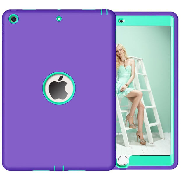 Blue Bumper Protective Case For iPad