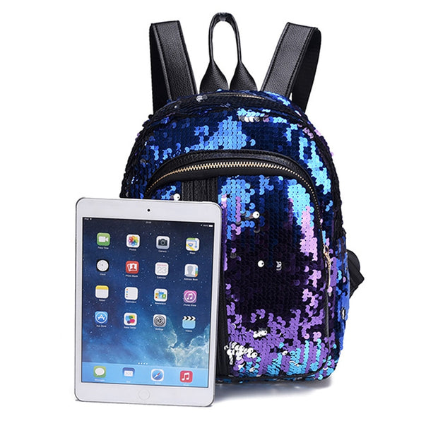 2pcs Sequin Backpack Set