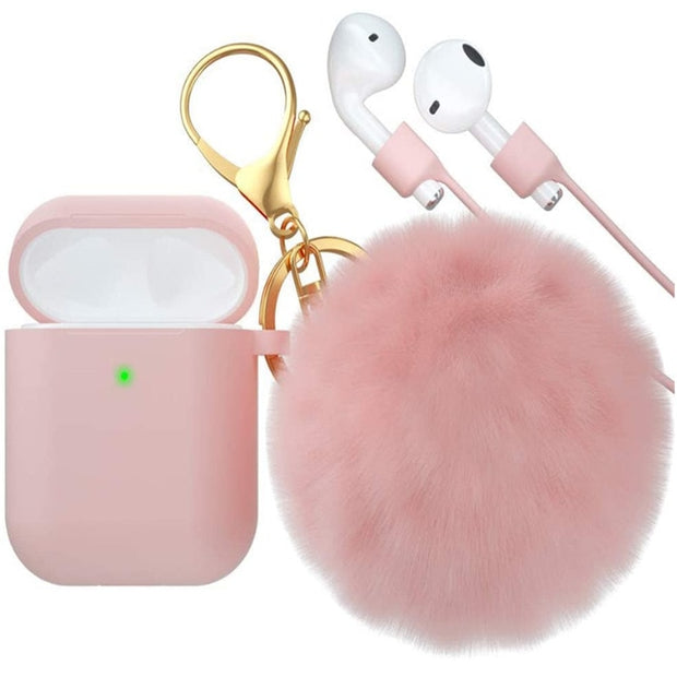 Cute AirPod Case With Keychain