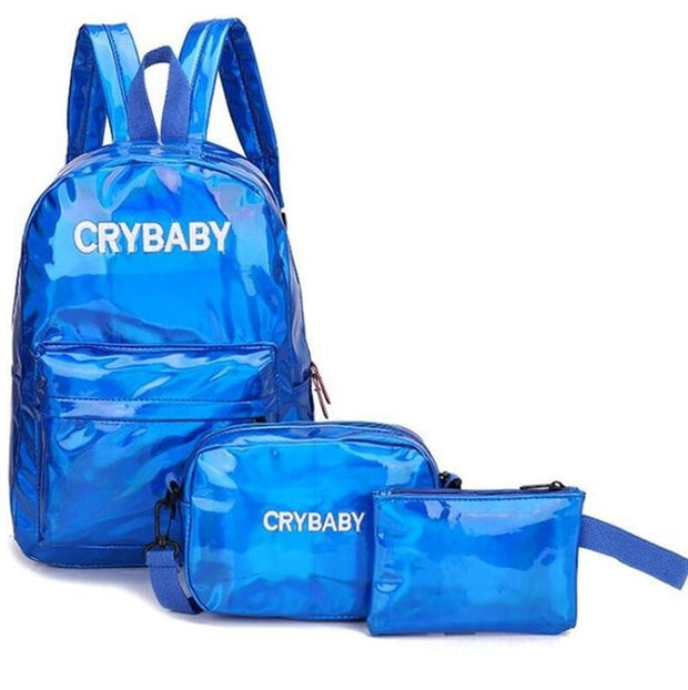 Holographic Crybaby Backpack set