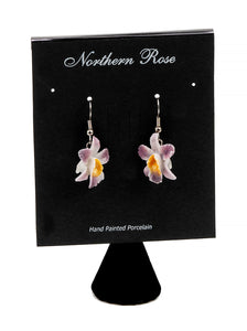 Magenta Orchid Earrings