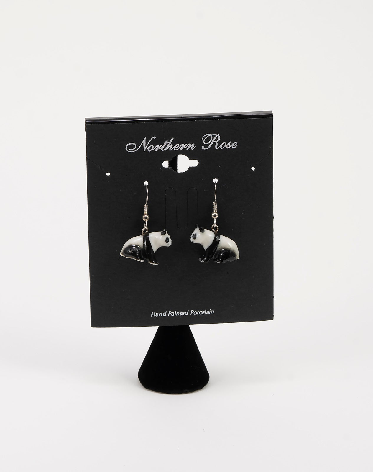 Seated Panda Earrings