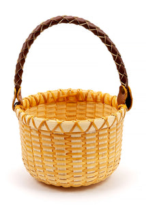 Woven Basket - Braided Handle