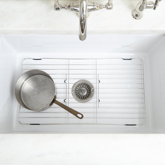 Stainless Steel Sink Protector With Coated Feet