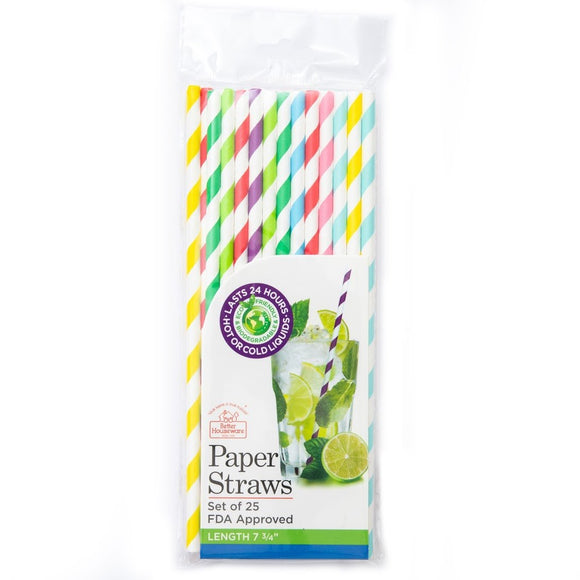 Paper Straws (Set of 25)